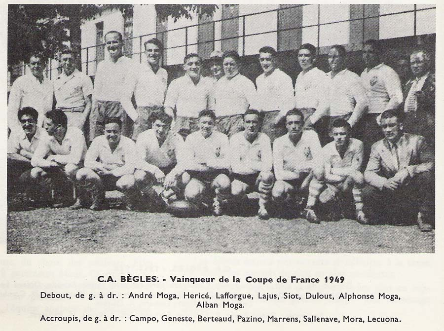 Bègles - 1949 Coupe De France - © finalesrugby.com
