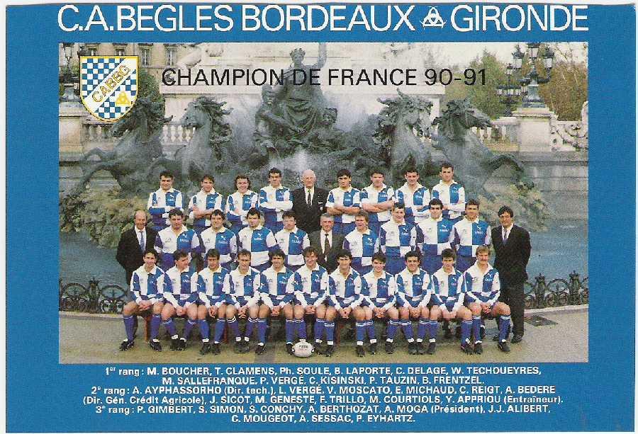 Bègles - 1991 / © finalesrugby.com
