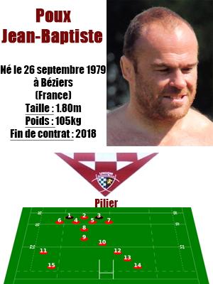 UBB - Fiche joueur Jean-Baptiste Poux