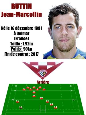 UBB - Fiche joueur Jean-Marcellin Buttin