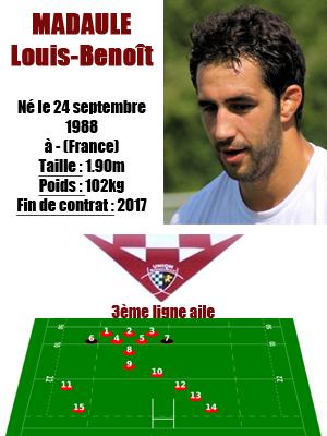 UBB - Fiche joueur Louis-Benoit Madaule