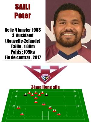 UBB - Fiche joueur Peter Saili