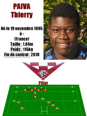 UBB - Fiche joueur Thierry Paiva