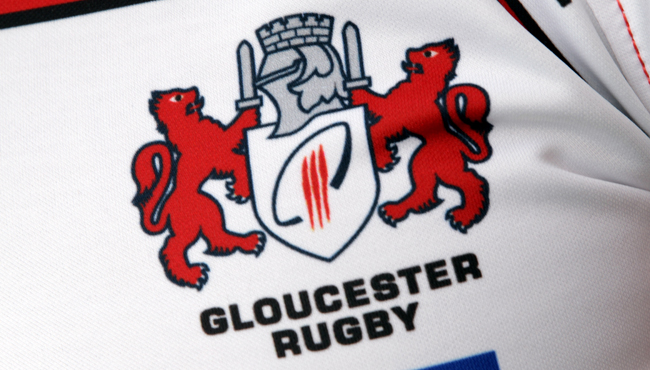 GLOUCESTER, ENGLAND - AUGUST 17:  The emblem of Gloucester rugby at the photocall at Kingsholm Stadium on August 17, 2011 in Gloucester, England.  (Photo by David Rogers/Getty Images)