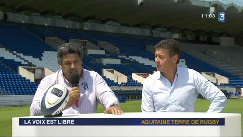 Serge Blanco et Laurent Marti