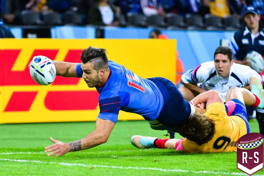 Essai Sofiane GUITOUNE - 23.09.2015 - France / Roumanie - Coupe du Monde 2015 -Londres Photo : Dave Winter / Icon Sport