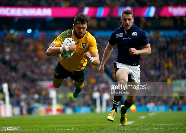 during the 2015 Rugby World Cup Quarter Final match between Australia and Scotland at Twickenham Stadium on October 18, 2015 in London, United Kingdom.