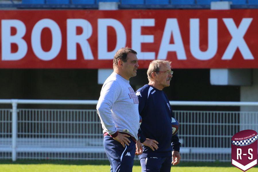 Raphaël Ibanez et Jacques Brunel